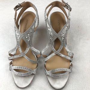 Antonio Melani jeweled strapy heeled sandals